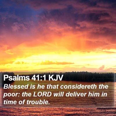 Psalms 41:1 KJV Bible Verse Image