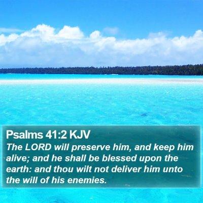 Psalms 41:2 KJV Bible Verse Image
