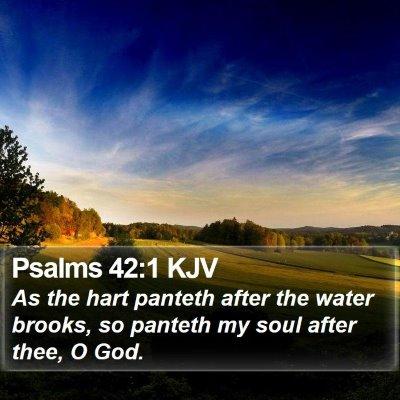 Psalms 42:1 KJV Bible Verse Image