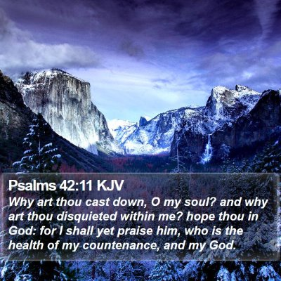 Psalms 42:11 KJV Bible Verse Image