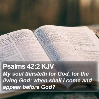 Psalms 42:2 KJV Bible Verse Image