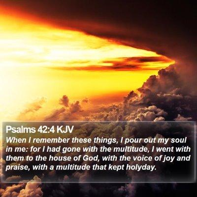 Psalms 42:4 KJV Bible Verse Image