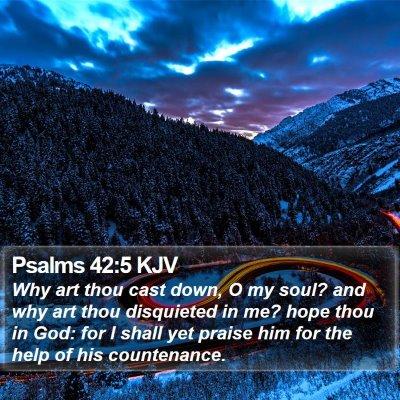Psalms 42:5 KJV Bible Verse Image