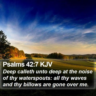 Psalms 42:7 KJV Bible Verse Image