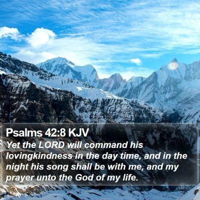 Psalms 42:8 KJV Bible Verse Image