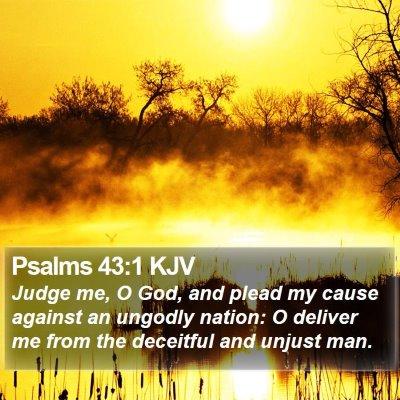 Psalms 43:1 KJV Bible Verse Image