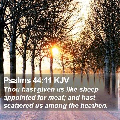Psalms 44:11 KJV Bible Verse Image