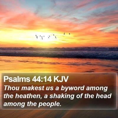 Psalms 44:14 KJV Bible Verse Image