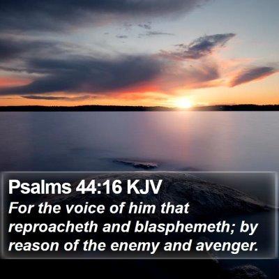 Psalms 44:16 KJV Bible Verse Image