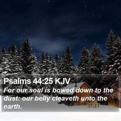 Psalms 44:25 KJV Bible Verse Image