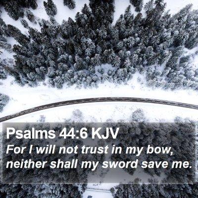 Psalms 44:6 KJV Bible Verse Image