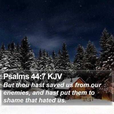 Psalms 44:7 KJV Bible Verse Image