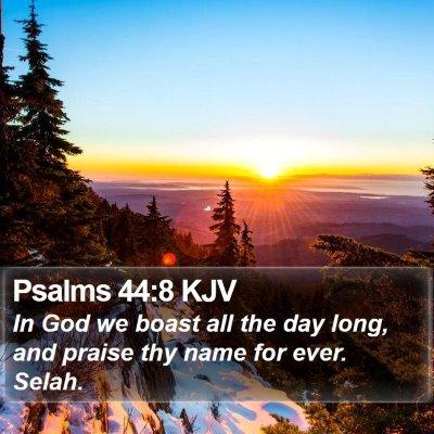 Psalms 44:8 KJV Bible Verse Image