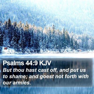 Psalms 44:9 KJV Bible Verse Image
