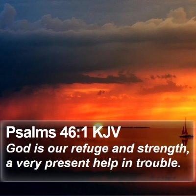 Psalms 46:1 KJV Bible Verse Image