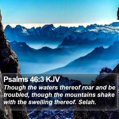 Psalms 46:3 KJV Bible Verse Image
