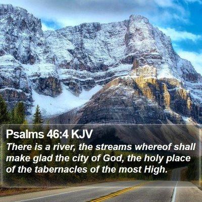 Psalms 46:4 KJV Bible Verse Image
