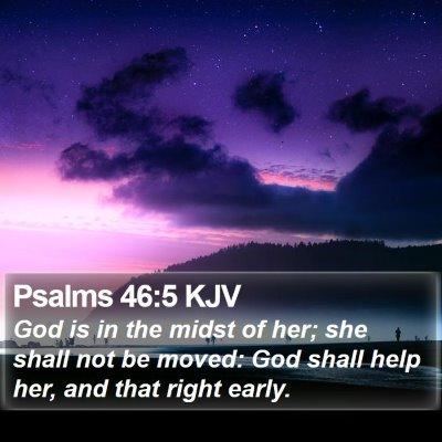 Psalms 46:5 KJV Bible Verse Image