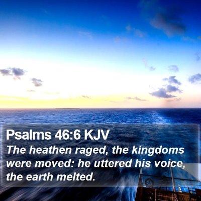 Psalms 46:6 KJV Bible Verse Image