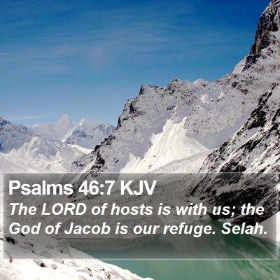 Psalms 46:7 KJV Bible Verse Image
