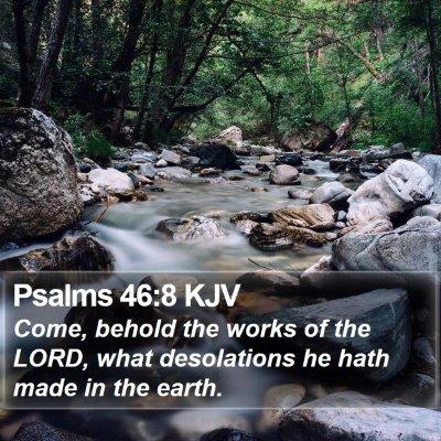 Psalms 46:8 KJV Bible Verse Image