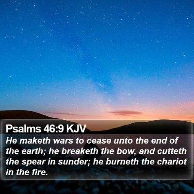 Psalms 46:9 KJV Bible Verse Image