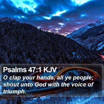 Psalms 47:1 KJV Bible Verse Image
