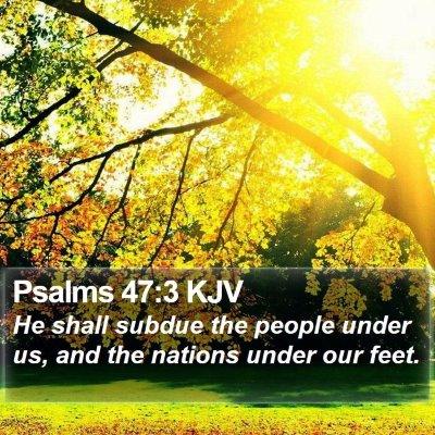 Psalms 47:3 KJV Bible Verse Image