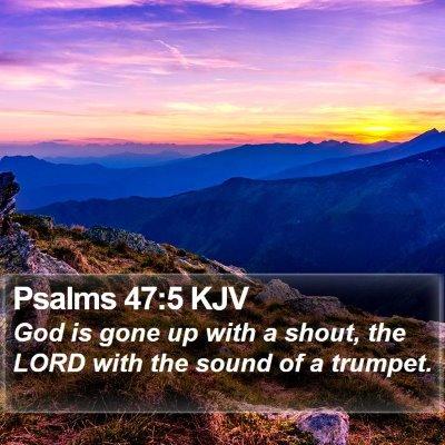 Psalms 47:5 KJV Bible Verse Image