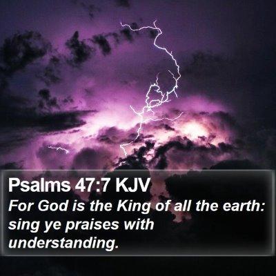 Psalms 47:7 KJV Bible Verse Image
