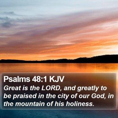 Psalms 48:1 KJV Bible Verse Image