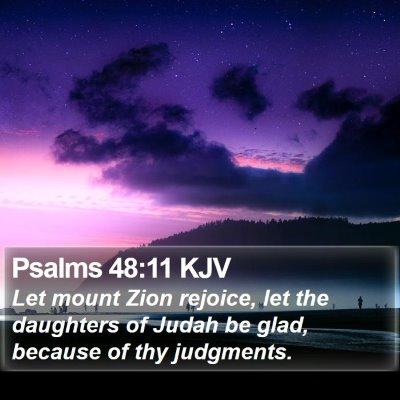 Psalms 48:11 KJV Bible Verse Image