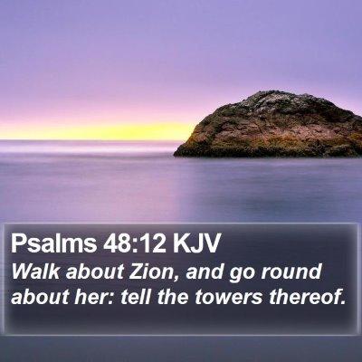 Psalms 48:12 KJV Bible Verse Image
