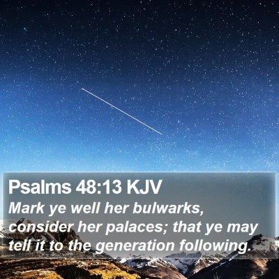 Psalms 48:13 KJV Bible Verse Image