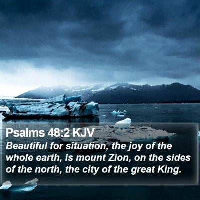 Psalms 48:2 KJV Bible Verse Image