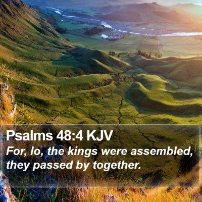 Psalms 48:4 KJV Bible Verse Image
