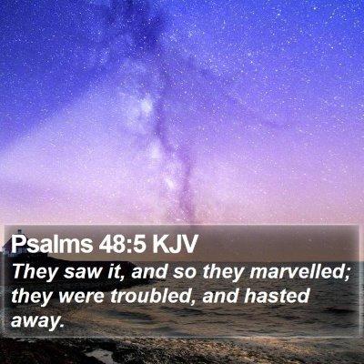 Psalms 48:5 KJV Bible Verse Image