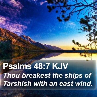 Psalms 48:7 KJV Bible Verse Image
