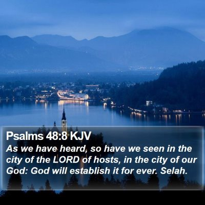 Psalms 48:8 KJV Bible Verse Image