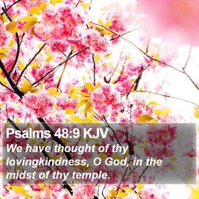 Psalms 48:9 KJV Bible Verse Image