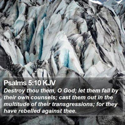 Psalms 5:10 KJV Bible Verse Image