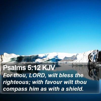 Psalms 5:12 KJV Bible Verse Image