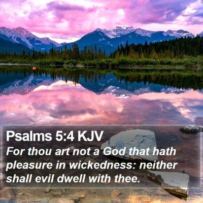 Psalms 5:4 KJV Bible Verse Image