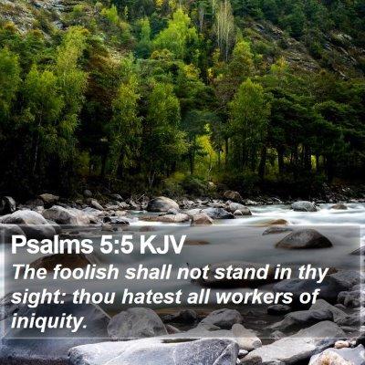 Psalms 5:5 KJV Bible Verse Image