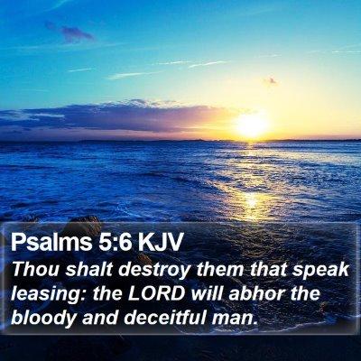 Psalms 5:6 KJV Bible Verse Image