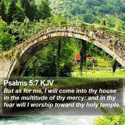 Psalms 5:7 KJV Bible Verse Image