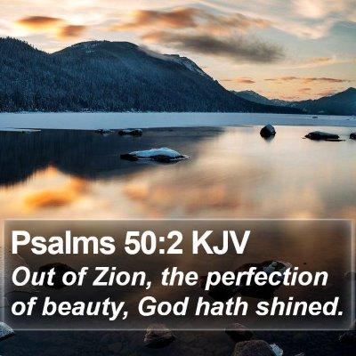 Psalms 50:2 KJV Bible Verse Image