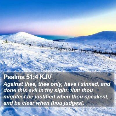 Psalms 51:4 KJV Bible Verse Image