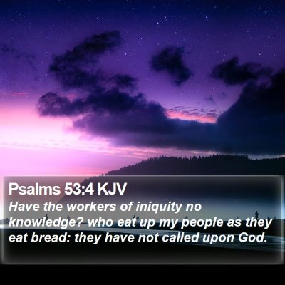 Psalms 53:4 KJV Bible Verse Image