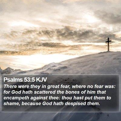 Psalms 53:5 KJV Bible Verse Image
